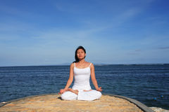 Yoga by Sea Stock Images