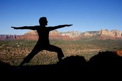 Yoga at Sedona Stock Image