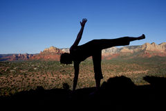 Yoga at Sedona Stock Photo