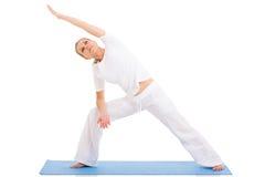Yoga senior della donna Immagini Stock Libere da Diritti