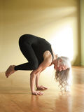 Yoga Senior Woman stock image