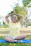 Yoga for seniors Stock Photos