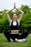 Yoga session Royalty Free Stock Photo