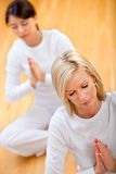 Yoga session Royalty Free Stock Image