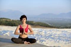 Yoga session Royalty Free Stock Image