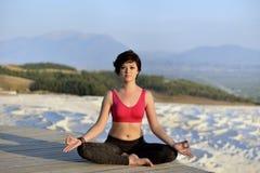 Yoga session Stock Photo