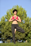 Yoga session Stock Images