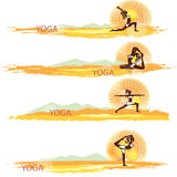 Yoga. Set of banners Royalty Free Stock Photos