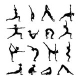 Yoga Set Black Royalty Free Stock Photos