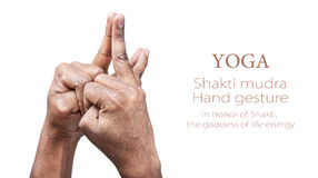 Yoga shakti mudra Stock Photo