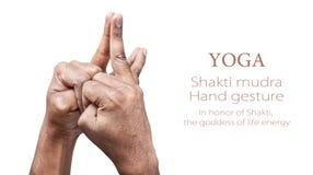 Yoga shakti mudra Stockfoto