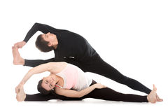 Yoga side bends Royalty Free Stock Image