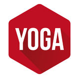 Yoga sign button red Royalty Free Stock Image