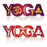 Yoga sign icons. Royalty Free Stock Photography