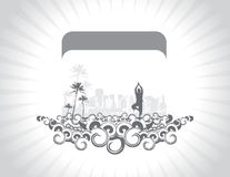 Yoga silhouette Royalty Free Stock Images
