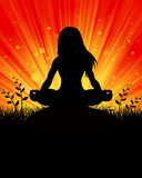 Yoga silhouette Background Stock Photo