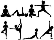Yoga silhouette Royalty Free Stock Photos