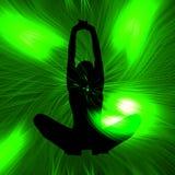 Yoga silhouette illustration Royalty Free Stock Photo