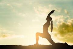 Yoga silhouette Stock Photos