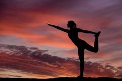 Yoga silhouette Stock Image
