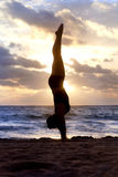 Yoga Silhouette Stock Photography