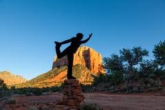 Yoga Silhouette Royalty Free Stock Image