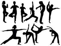 Yoga silhouette Royalty Free Stock Photos