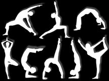 Yoga silhouettes royalty free illustration