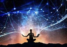 Yoga som fysisk och andlig terapi Arkivbilder