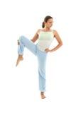 Yoga som står #4 Royaltyfri Fotografi