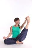 Yoga-sostener-dedo del pie imágenes de archivo libres de regalías