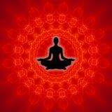 Yoga spiritosa Fotografia Stock