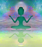 Yoga and Spirituality. Raster illustration Royalty Free Stock Photo