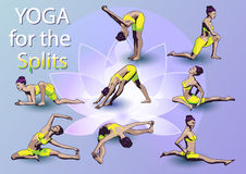 Yoga For The Splits Royalty Free Stock Photography