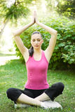 Yoga sporty woman Stock Photo