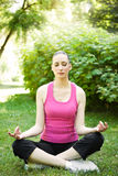 Yoga sporty woman Royalty Free Stock Images