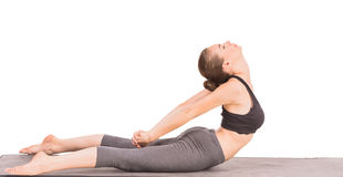 Yoga. Sporty woman doing yoga exercise  in cat pose Royalty Free Stock Photography