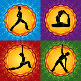Yoga square Royalty Free Stock Images