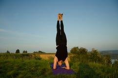 Yoga: Stärke, Harmonie und Ruhe Stockbild
