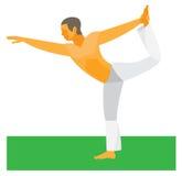 yoga Stel koning van de dans royalty-vrije illustratie