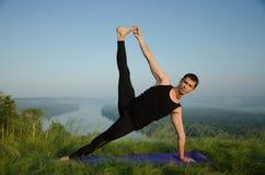Yoga: Sterkte, harmonie en kalmte stock afbeelding