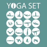 Yoga stick man set Stock Images