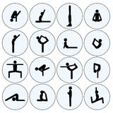 Yoga stick man set Royalty Free Stock Image