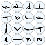 Yoga stick man set Stock Photography