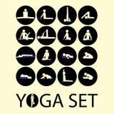 Yoga stick man Stock Images