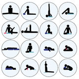 Yoga stick man Royalty Free Stock Images