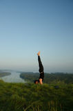 Yoga: Strength, harmony and tranquility Royalty Free Stock Photography