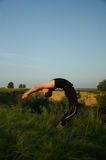 Yoga: Strength, harmony and tranquility Royalty Free Stock Images