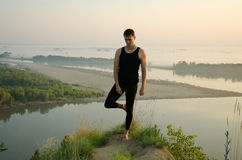 Yoga: Strength, harmony and tranquility Stock Photos
