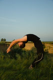 Yoga: Strength, harmony and tranquility Stock Images